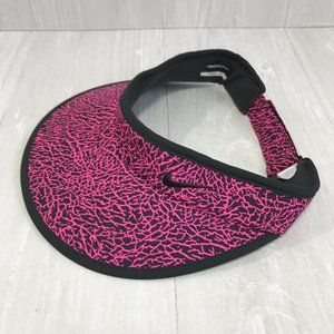 Nike Golf Womens Pink and Black Adjustable Visor